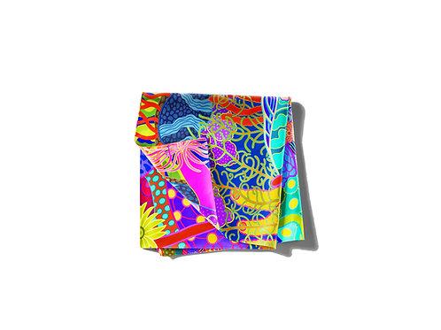 Cascades Abstract Pocket Silk