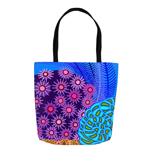 Star Anemone in Orchid & Turquoise Tote