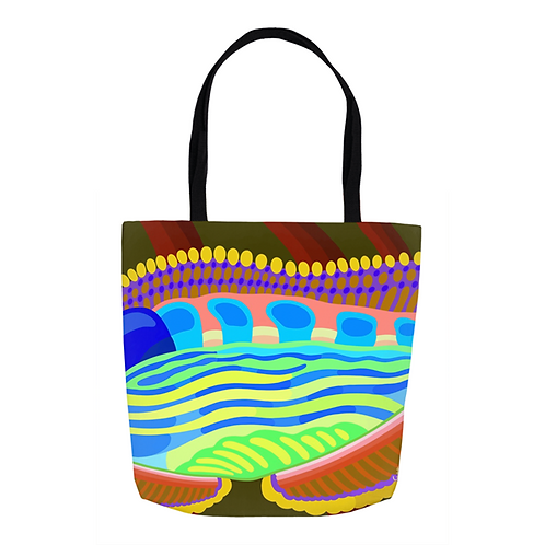 Autumn Flow Kaleidoscope Tote