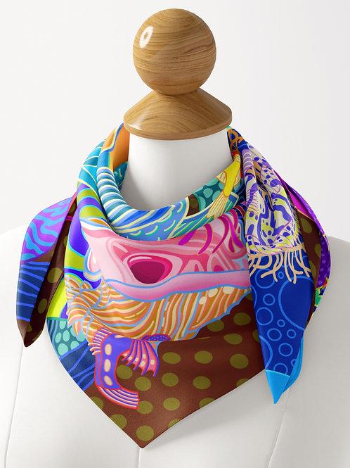 Coral Calm Luxe Silk