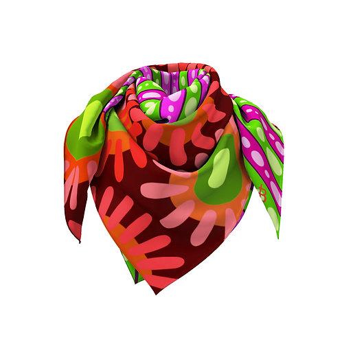 Crimson & Green Flower Anemone  Classic Silk