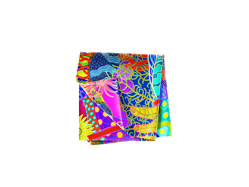 Devils Grotto Abstract  Pocket Silk
