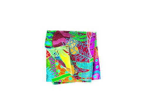Coral Gardens Abstract Pocket Silk
