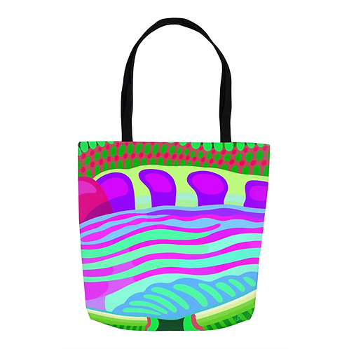 Violet & Lime  Kaleidoscope Tote