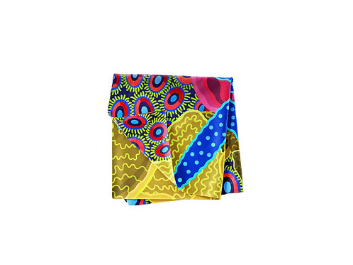 Starlet Lapis & Magenta Pocket Silk