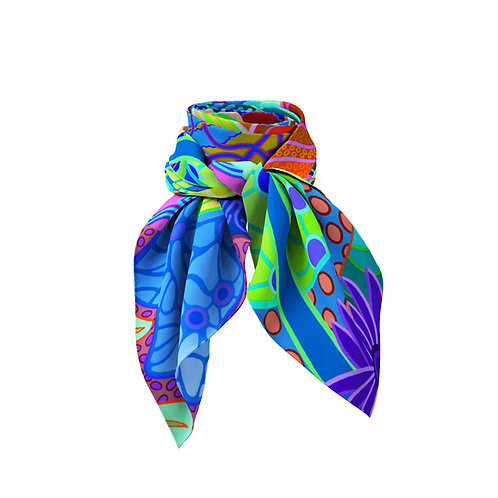 Paradise Plunge Abstract Mini Silk