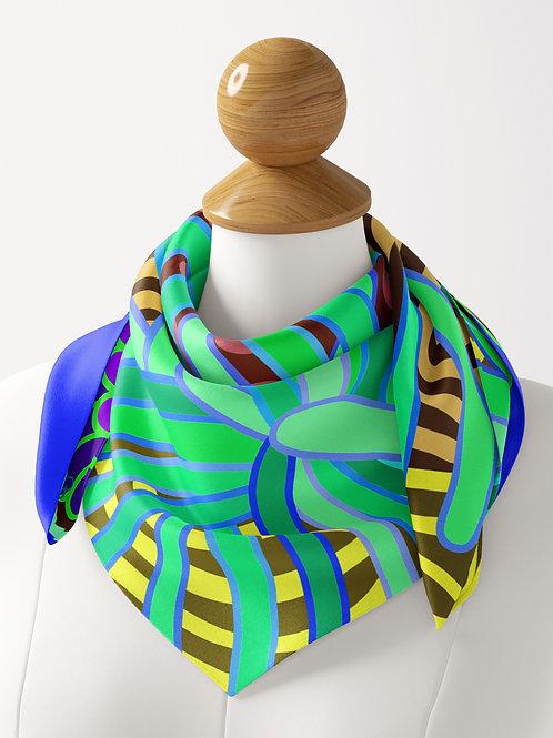 Anemone Emerald & Kline Blue Luxe Silk