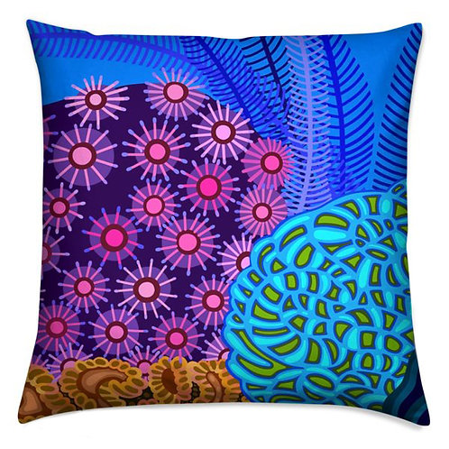 Star Anemone in Orchid & Turquoise  Pillow