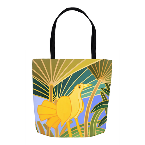 Lemon Yellow Grackle Tote