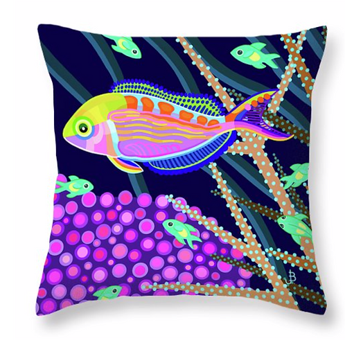 Rainbow Fairy Wrasse Pillow