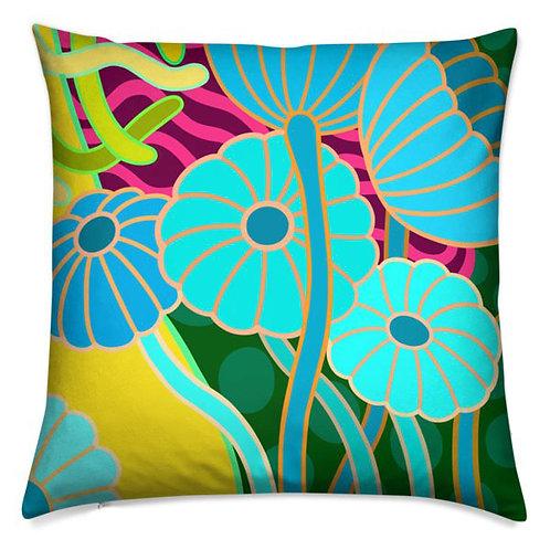Sea Daisy Citrus Sky Pillow