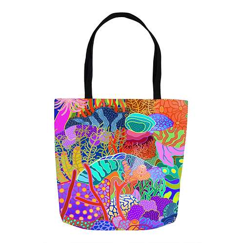 Devils Grotto Abstract Tote