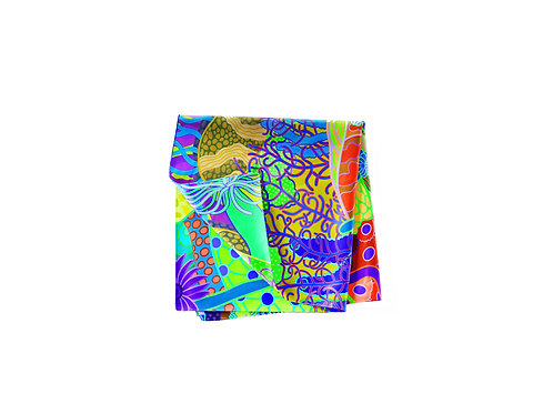 Paradise Plunge Abstract  Pocket Silk