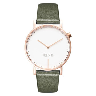 FELIX B Ren Dag Rose Gold/White/Green - Leather - NOK 1299,- I BUY NOW 👉