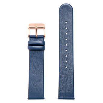 FELIX B Leather Strap - Blue/Rose Gold - NOK 349,- I BUY NOW 👉