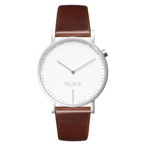 FELIX B Ren Dag Silver/White/Brown - Leather - NOK1299,- I BUY NOW 👉