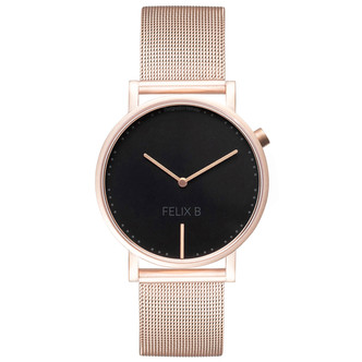 FELIX B Ren Natt Rose Gold/Black - Mesh - NOK 1499,- I BUY NOW 👉