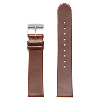 FELIX B Leather Strap - Brown/Silver - NOK 349,- I BUY NOW 👉