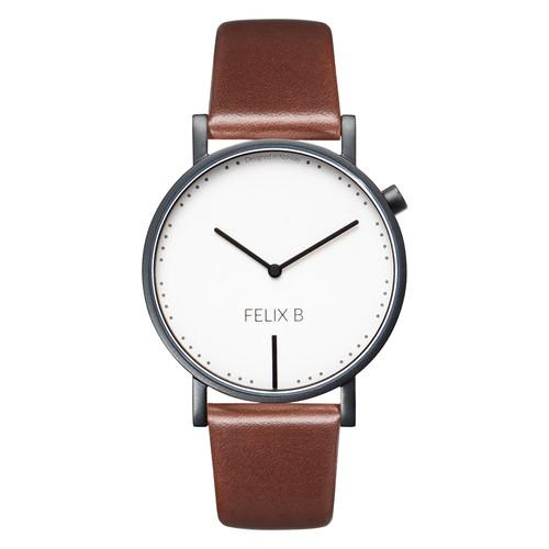 FELIX B Ren Dag Kontrast Black/White/Brown - Leather - NOK 1299,- I BUY NOW 👉