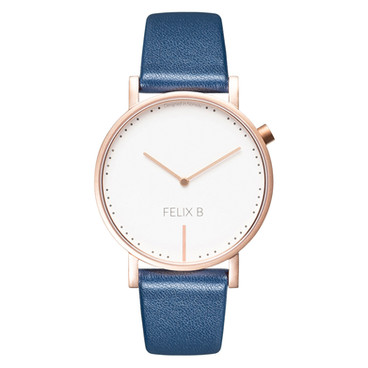 FELIX B Ren Dag Rose Gold/White/Blue - Leather - NOK 1299,- I BUY NOW 👉