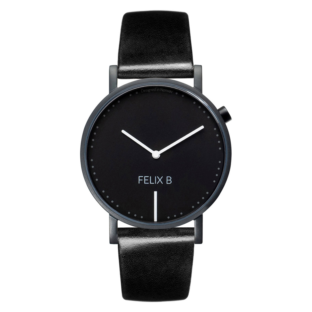 FELIX B Ren Natt Kontrast Black/Black/Black - Leather - NOK 1299,- I BUY NOW 👉
