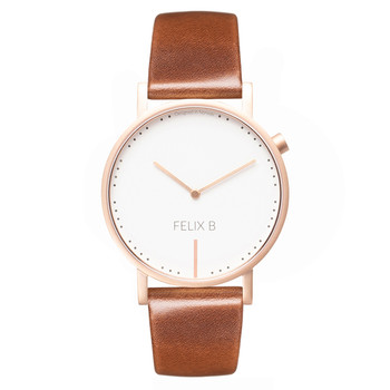FELIX B Ren Dag Rose Gold/White/Brown - Leather - NOK 1299,- I BUY NOW 👉