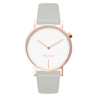 FELIX B Ren Dag Rose Gold/White/Grey - Leather - NOK 1299,- I BUY NOW 👉