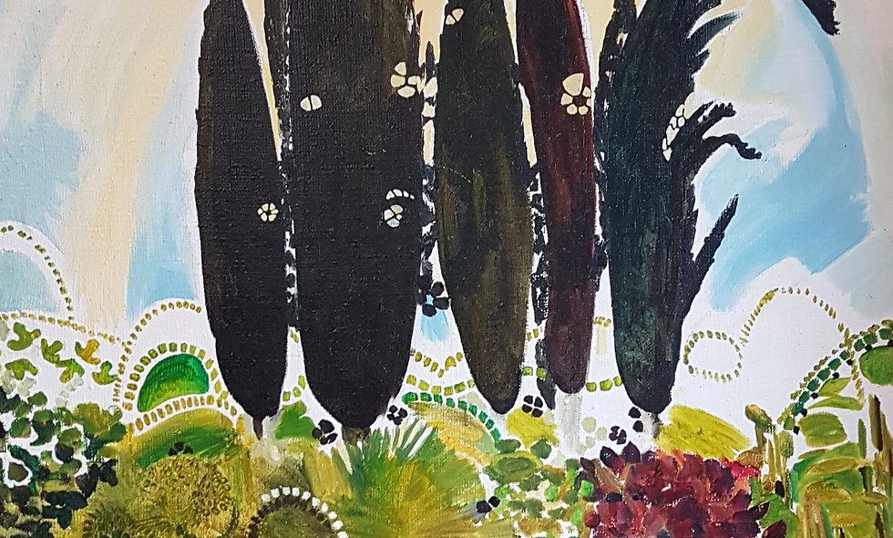 Cypresses. Olga Petrovskaya-Petovradzi