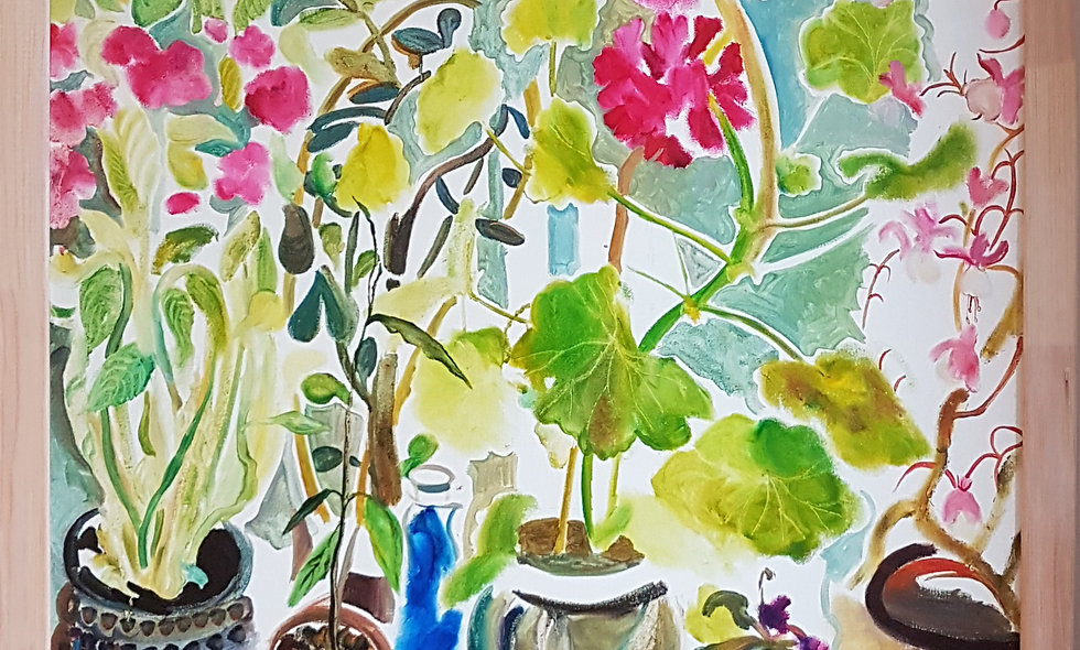 Morning Still Life with Geraniums. Olga Petrovskaya-Petovradzi