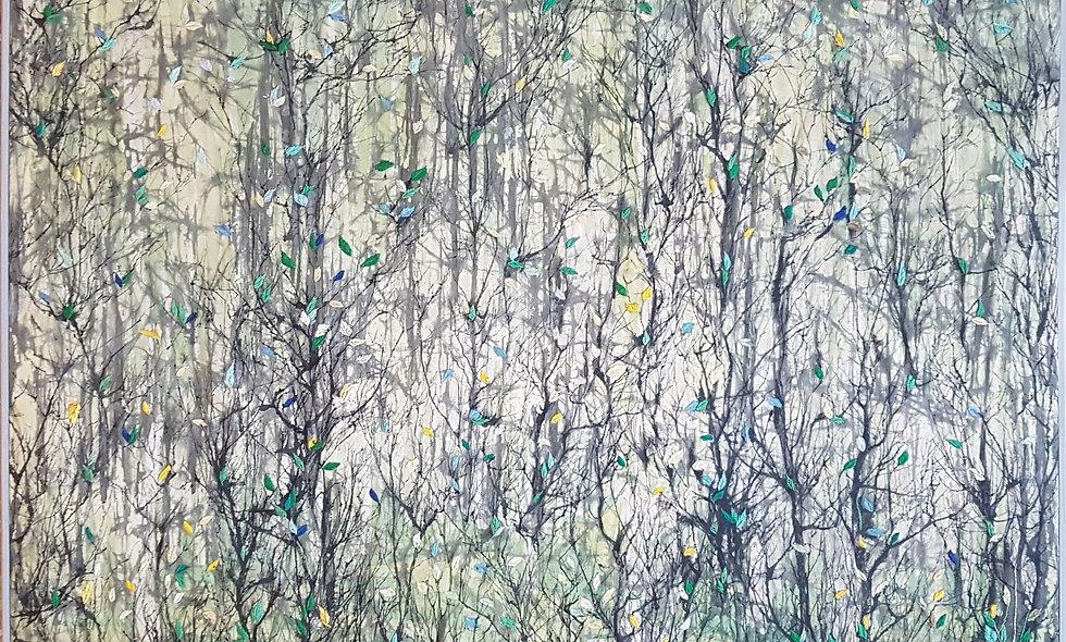 Green forest. Angelina and Ekaterina Zhukova