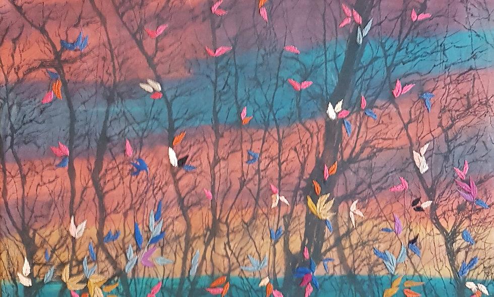 Lilac landscape. Angelina and Ekaterina Zhukova