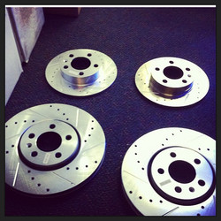 Drilled an slotted #brakes #soldhere #dasautoparts