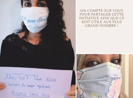 « Un ToîT Pour Elles » soutien le corps médical au travers de « l'opération Masques »
