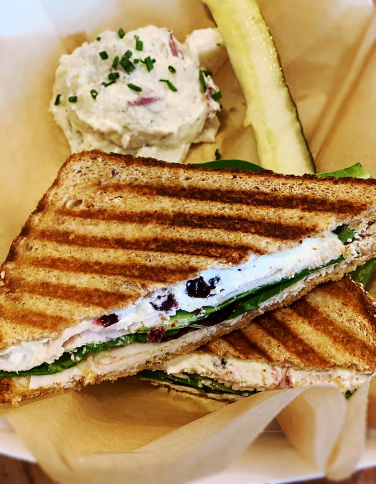 Fuel Cafe Turkey Pesto Grilled Sandwich order delivery takeout pickup available Cheyenne Wyoming