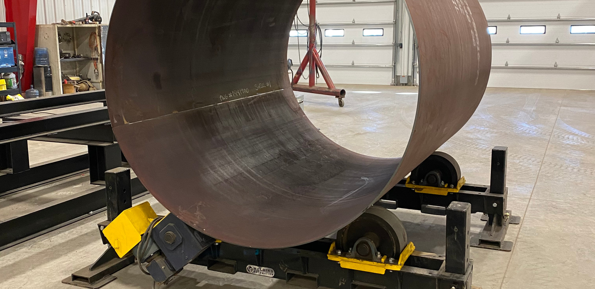 Steel pipe cylinder rolling service & fa