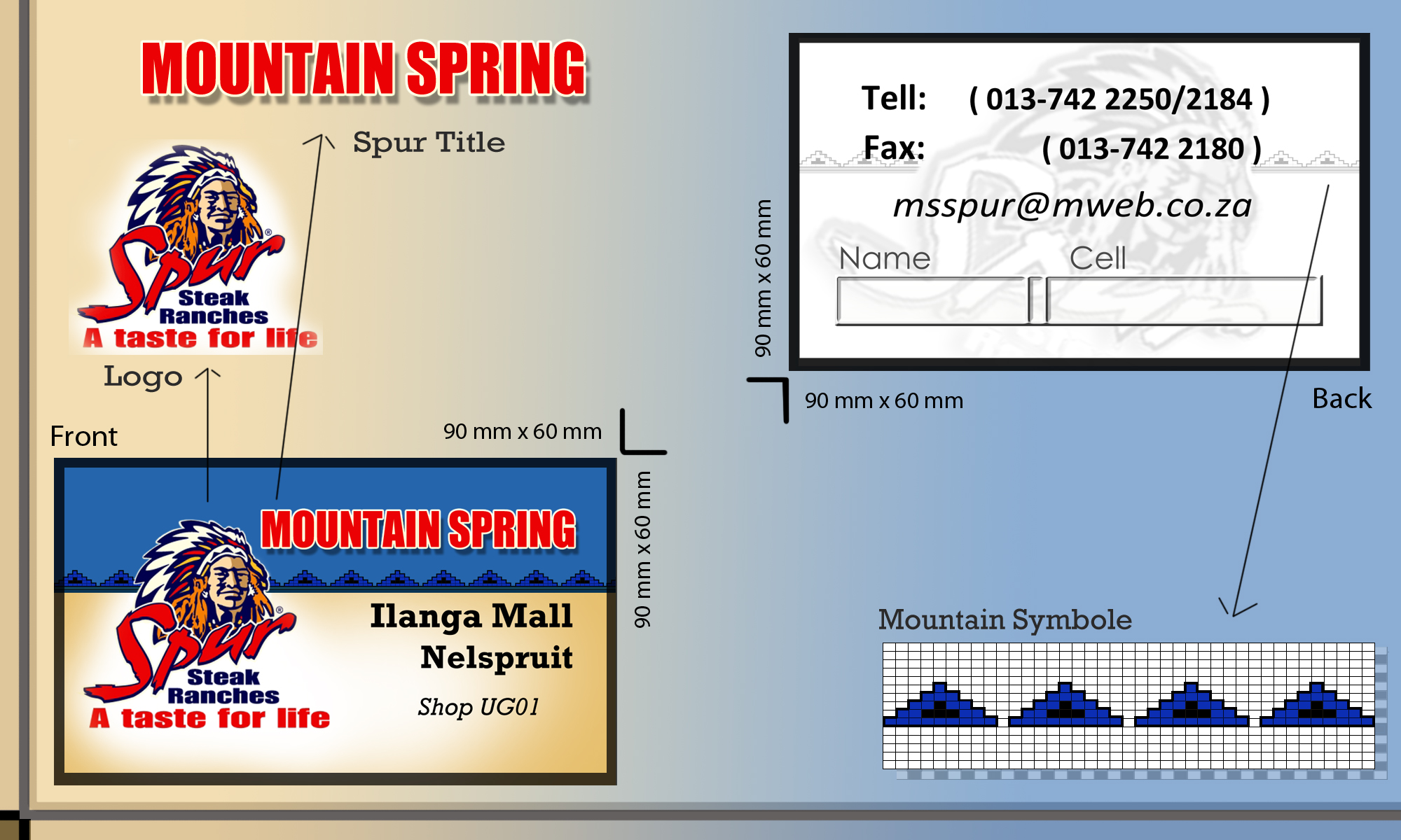 Mountain Spring Spur Business Card