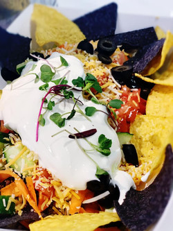 A taste of the South for Tacos on Tuesday featuring: a Taco Salad with lean ground beef, Romain lett