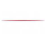 Zova Logo white and red transparent back - Daniel James Media