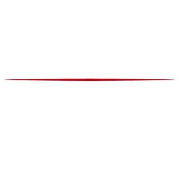 Zova Logo white and red transparent back - Daniel James Media