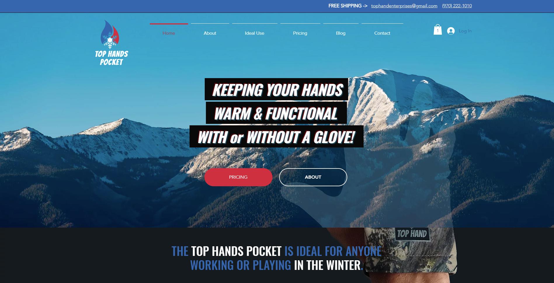 Top Hands Pocket - Daniel James Media Site Desgin