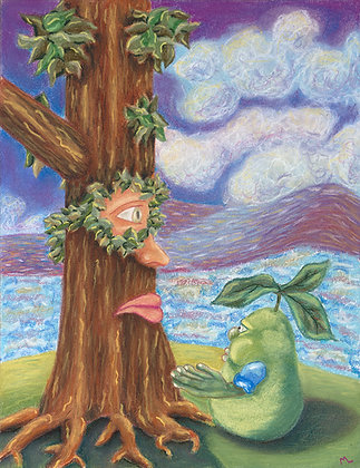 Pear Faces Tree