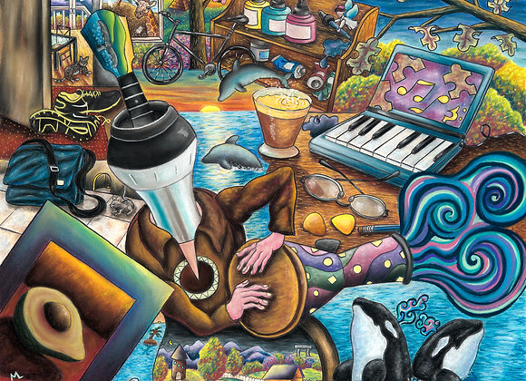 Coffee Mug Mural