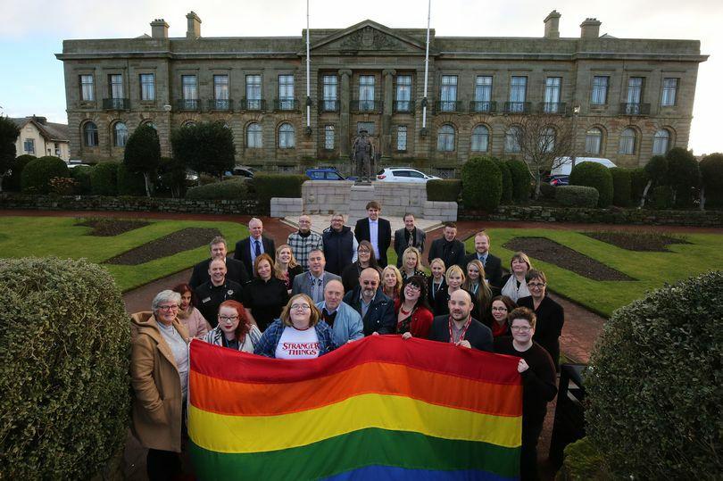 The raising of the Rainbow Flag 2018