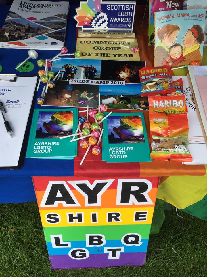 Our stall at Glasgow Pride!