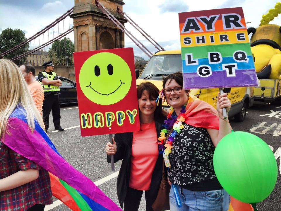 Glasgow Pride in the Rain!
