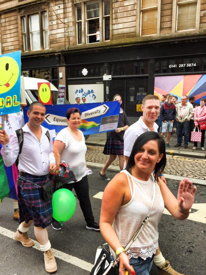 Smile for Glasgow Pride!