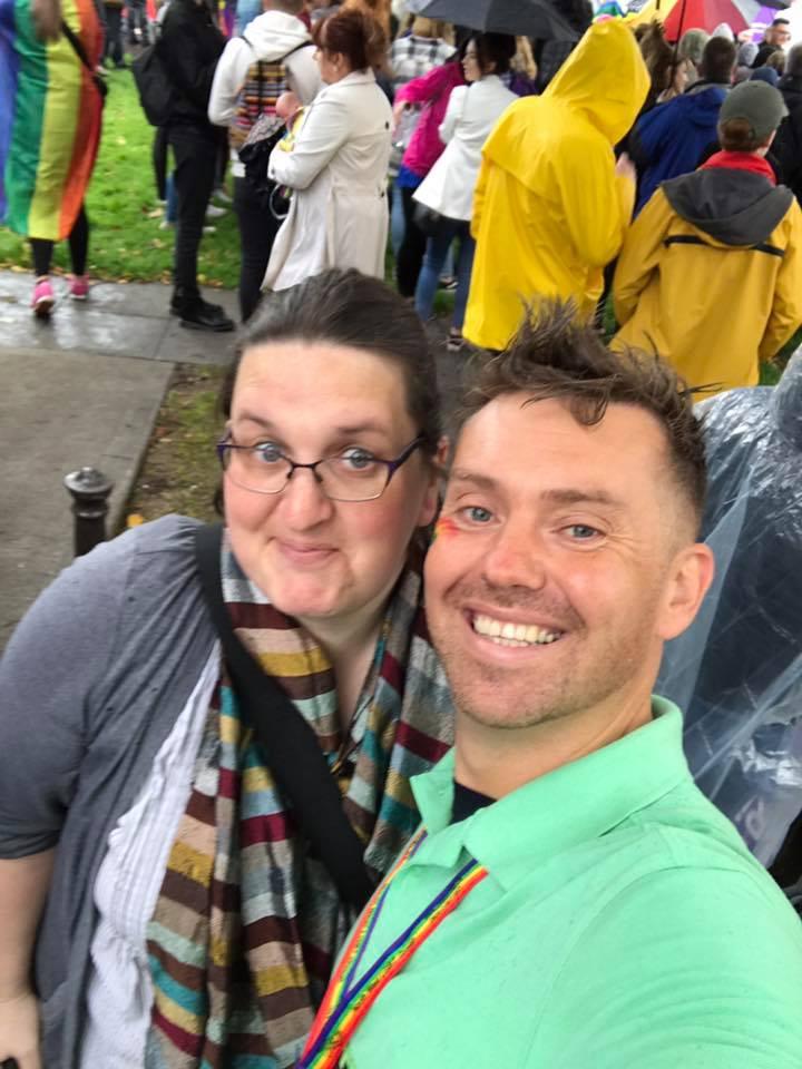 Smiling at Pride!