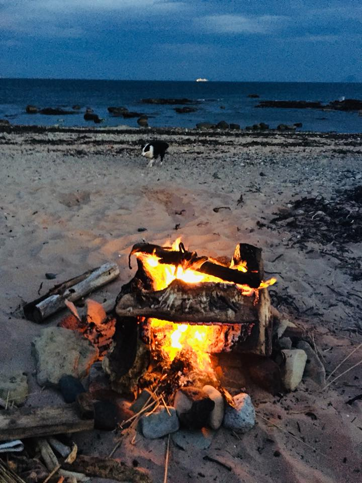 Beach Fire at Pride Camp 2018