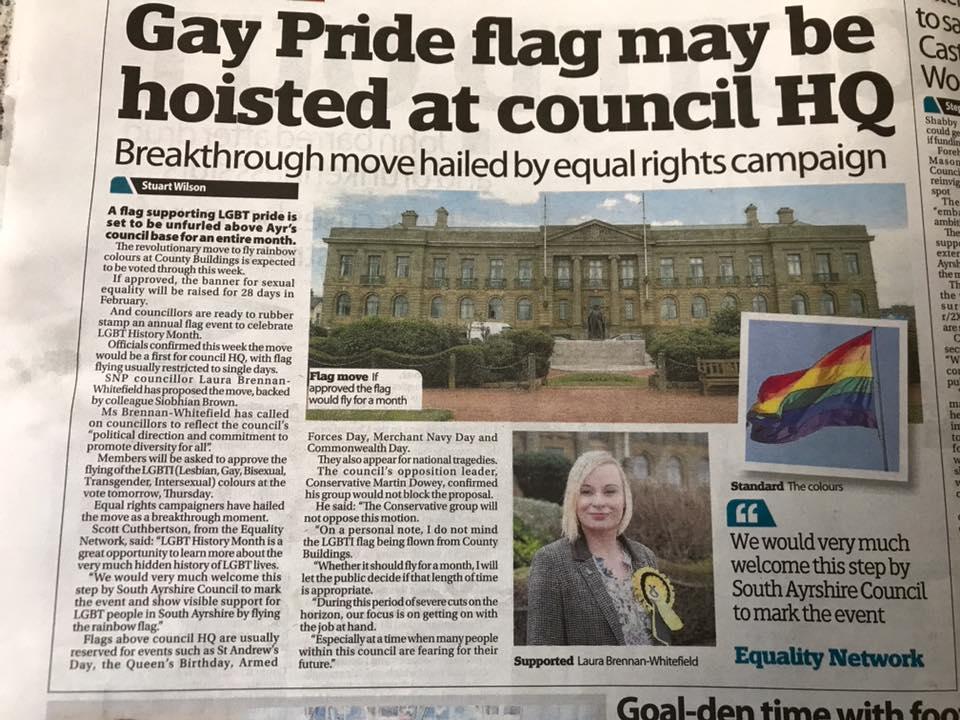 Historic vote for Rainbow flag