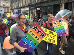 Ayrshire LGBTQ at Glasgow Pride!
